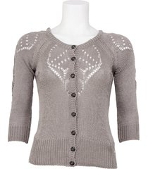 dept vest - knitted cardigan - stone