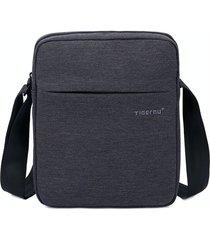 bolso hombre tigernu t-l5102 impermeable negocios negro gris