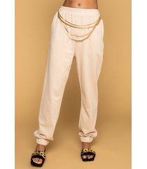 akira so proud of you chain detail joggers