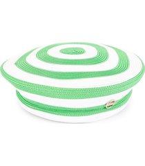 emilio pucci woven striped beret - green