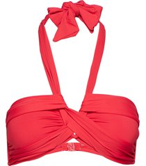 bandeau bikinitop röd seafolly