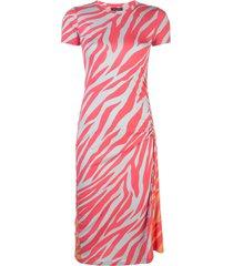 rag & bone tiger-print drawstring bodycon dress - red