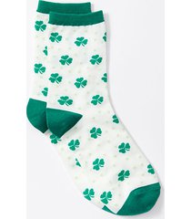 loft four leaf clover crew socks
