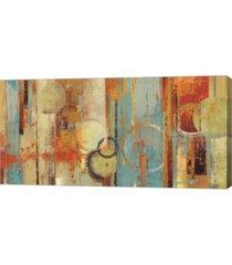 "metaverse beach wood by tom reeves canvas art, 39.75"" x 20"""