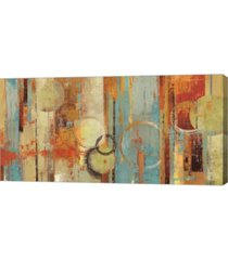 "metaverse beach wood by tom reeves canvas art, 39.75"" x 20"""