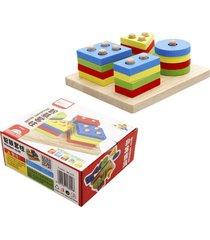 bloques de madera conjunto four-column junta inteligencia geométrica f
