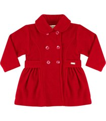 casaco sobretudo essência viva europa luxo vermelho - tricae