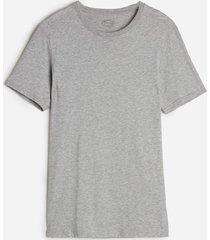 camiseta de manga curta gola de algodao supima  intimissimi algodão supima cinza