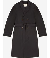 double-breasted trench coat blue 46