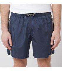 emporio armani men's logo tape boxer swim short - navy - 54/xl