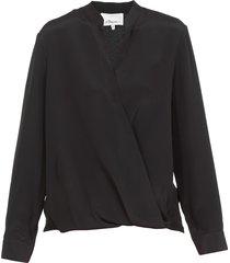 3.1 phillip lim draped silk blouse