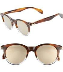 women's rag & bone 49mm round sunglasses -