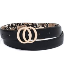 inc double-circle reversible belt, created for macy's
