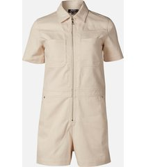 a.p.c. women's nastia playsuit - ecru - fr 38/uk 10