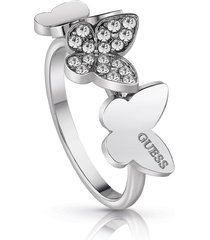 anillo guess love butterfly/ubr78003-54 - plateado