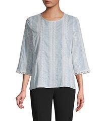 tapestry-stripe poplin blouse