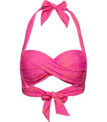 twist soft cup halter bikinitop roze seafolly