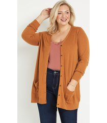 maurices plus size womens solid boyfriend button front cardigan