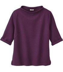jersey shirt met korte mouwen van biologisch katoen, purper 40/42