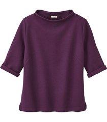 jersey shirt met korte mouwen van biologisch katoen, paars 44/46