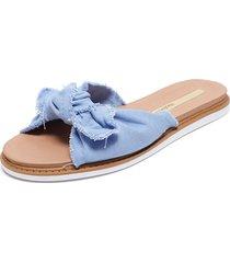 sandalia azul moleca