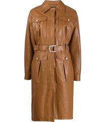 pinko trench coat - marrom