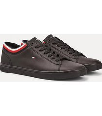 zapatilla essential leather negro tommy hilfiger