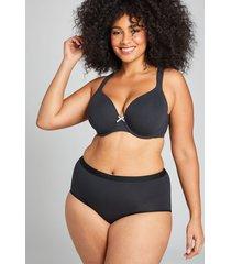 lane bryant women's cotton full brief panty 26/28 black