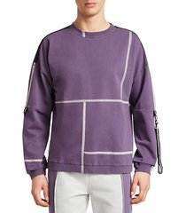 paneled tape sweatshirt