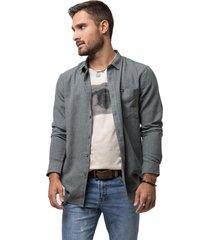 camisa lisa manga larga acero soviet