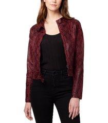 sanctuary faux-leather snake print jacket