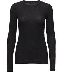 angela ls t-shirt stickad tröja svart bruuns bazaar