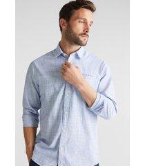 camisa en 100% algodón ecológico azul esprit