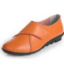 scarpe casual in cuoio con velcro