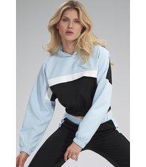 bluza m757 czarny-niebieski