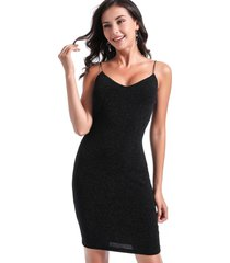 vestido lurex fiesta negro nicopoly