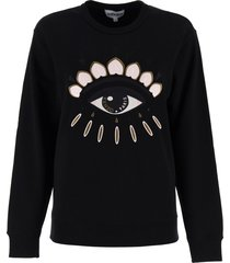 kenzo eye embroidery sweatshirt
