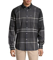 dunoon tailor-fit tartan shirt