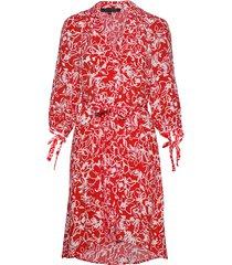fayola drape shirt dress knälång klänning röd french connection