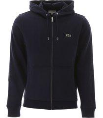 lacoste zip-up hooded sweatshirt