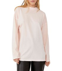 women's we the free by free people be free tunic t-shirt, size small - orange