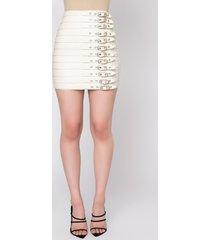 akira lose control buckle detail mini skirt