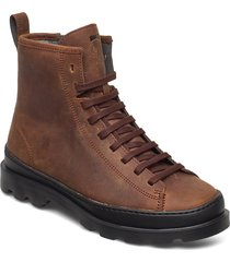 brutus shoes boots ankle boots ankle boot - flat brun camper