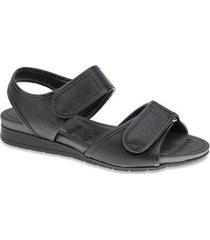 sandália modare papete feminina anabela viés conforto casual