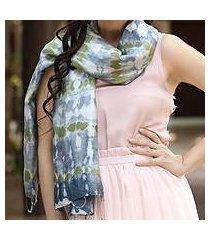 silk scarf, 'mist illusion' (thailand)