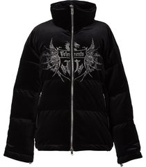 crystal puffer jacket black