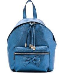 monnalisa mochila com laço e brilho - azul