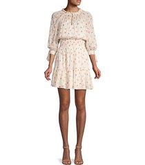 maui clip long-sleeve floral dress