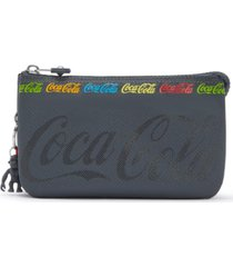 kipling coca-cola creativity large pouch