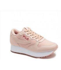 zapatilla rosa  fila euro jogger wedge w
